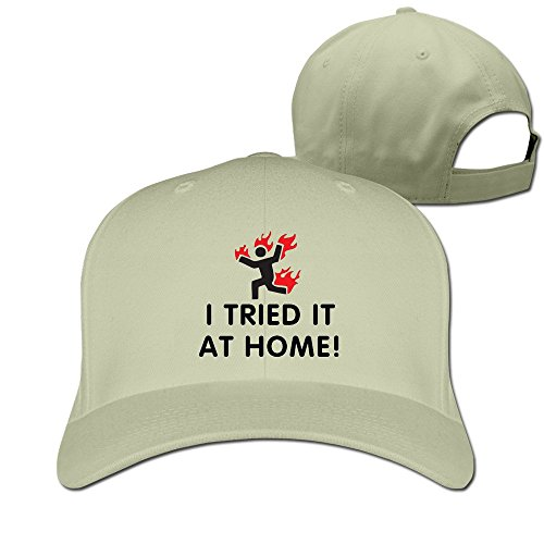 I Tried It At Home Adjustable Fitted Hat Baseball Hats]()