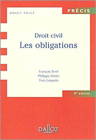 Téléchargement Droit civil : Les Obligations pdf