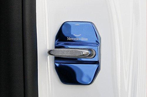 New Door Lock Cover 4PCS for Mercedes Benz E-Klasse Sedan (W212) 2010-2015 E200 E220 E250 E300 E350 E400 E500 (Blue) by JX