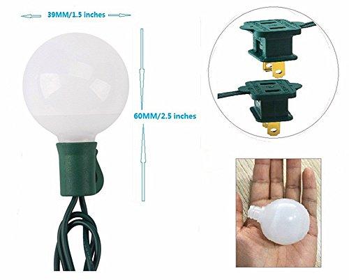 (Heavy Duty)G40 Globe Outdoor String Lights,17 Ft 25 LED