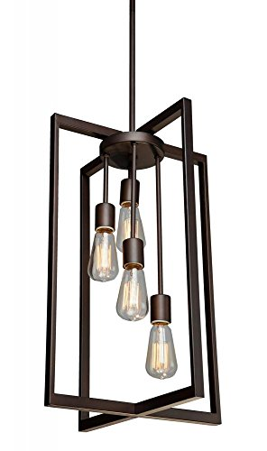 Artcraft Lighting Gastown 4-Light Mini Pendant, Oil Rubbed Bronze