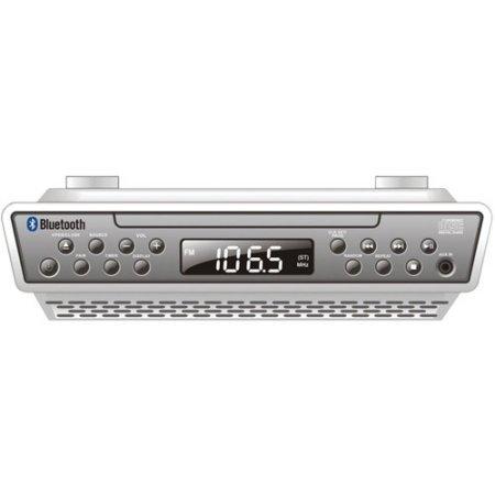 Sylvania AM/FM Bluetooth Wireless Under Counter Kitchen CD Player Radio Speaker System (Under The Counter Radios)