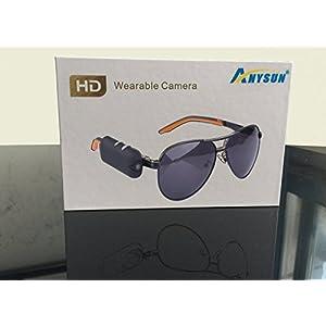 Anysun® 720p Mini Portable Wareable Sunglass Glass Full Hd Camer Dvra Hidden Spy Sport Action Video Recording Camcorder Eyewear K9