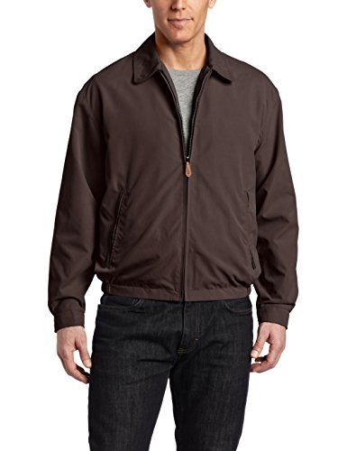 (London Fog Men's Auburn Zip-Front Golf Jacket, Dark Brown,)