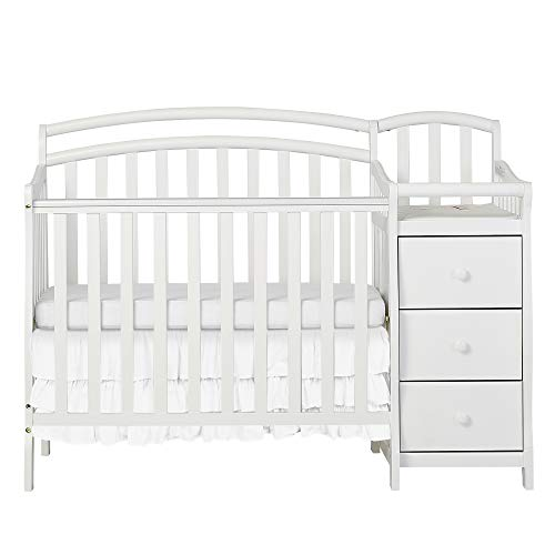 Dream On Me Casco 3 in 1 Mini Crib and Dressing Table Combo White ()