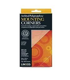 Lineco Self-Adhesive Polypropylene Mounting Corners - 1.25\