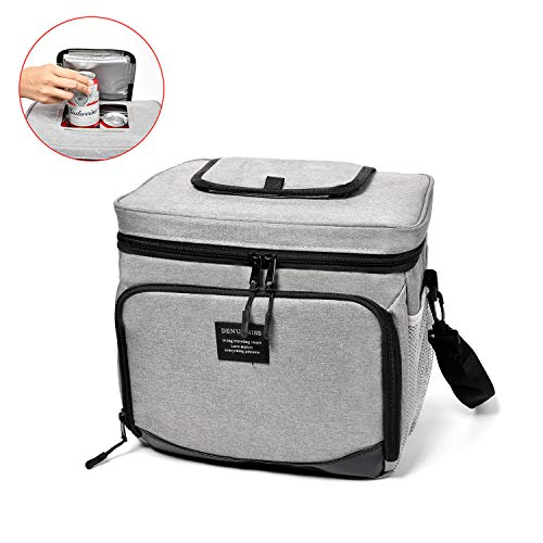 ELIE ELVO Thermal Insulated Lunch Box for Men & Women, Reusable Meal Prep Container, Cooler Tote Bag | Cool & Warm Food Storage for 4-5 Hours