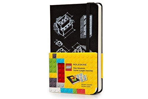 By Moleskine Moleskine LEGO Limited Edition Notebook II, Pocket, Plain, Black, Hard Cover (3.5 x 5.5) (Ntb) [Hardcover] ()