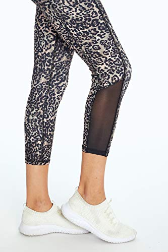 Jessica Simpson Sportswear Ace Pocket Capri Legging, Cinder Cheetah, Small