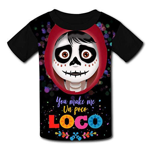 Coco Guitar Pattern Halloween Costumes Black Raglan T-Shirts Short Sleeve Sports Sweat Tee for Kids Boys Girls -