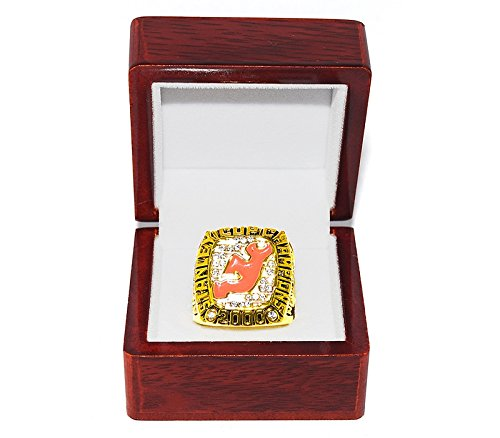 - NEW JERSEY DEVILS (Scott Stevens) 2000 STANLEY CUP FINALS WORLD CHAMPIONS (Vs. Dallas Stars) Collectible High-Quality Replica NHL Hockey Gold Championship Ring with Cherrywood Display Box