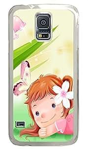 Samsung S5 case girly Cute Cartoon Girls PC Transparent Custom Samsung Galaxy S5 Case Cover