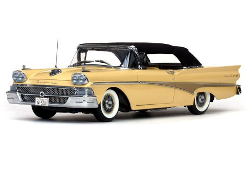 SunStar 1958 Ford Fairlane 500 Closed Convertible 1/18 for sale  Delivered anywhere in Canada