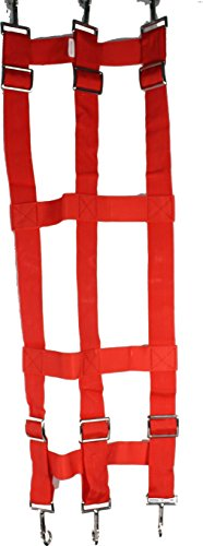 (PARTRADE P Poly Web Stall Guard Red 46X18 INCH)