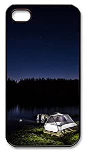 iPhone 4 4s Case, iPhone 4 4s Cases - landscapes nature camp 37 PC Polycarbonate Hard Case Back Cover for iPhone 4 4s¨CBlack