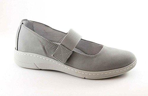 Gray Women's ERRI Grigio Shoes Ballerina Tear SC3454 Elastic Grunland OqHaEtw