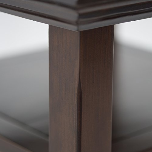 Simpli Home Acadian Solid Wood Narrow Side Table, Tobacco Brown by Simpli Home (Image #2)
