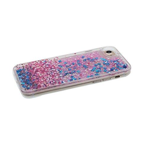 """iPhone 7 Plus Coque, Cover étui pour iPhone 7 Plus 5.5"""", Bling Glitter Fluide Liquide Sparkles Flowing Brillante, iPhone 7 Plus Case anti-chocs Bling Bling & Bouchon anti-poussière"""