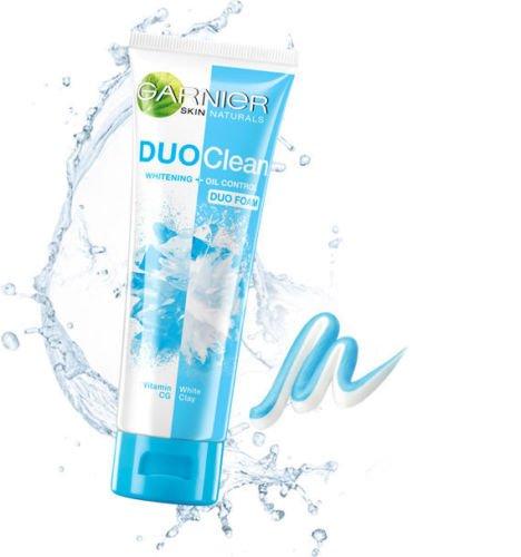 Garnier Skin Naturals DUO CLEAN Whitening Oil Control DUO FOAM Net wt.1.40 Oz or 40 ml.