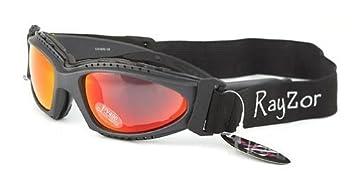 eebb5ea0fa6036 Ray-Zor Rayzor professionnel UV400 Gun Metal Gris 2 en 1 ski snowboard  Lunettes