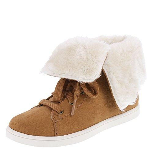 Airwalk Cognac Suede Girls' Molly Cozy High-Top 4.5 (Airwalk Boot)