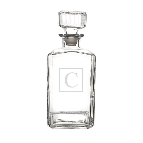Cathy's Concepts Personalized Whiskey Decanter, Letter C by Cathy's Concepts