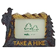Take a Hike Hiking Theme Tabletop Photo Picture Frame, 6x4, Horizontal Landscape