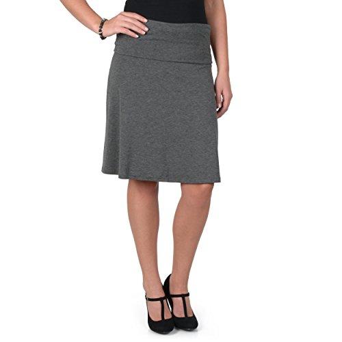 Brinley Co. Juniors Comfort A-line Skirt