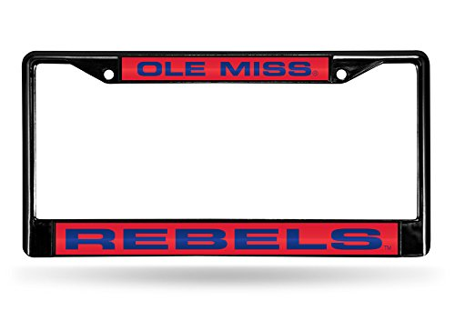 (Rico Industries NCAA Mississippi Ole Miss Rebels Laser Cut Inlaid Standard Chrome License Plate Frame,)