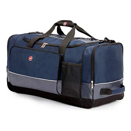 "SWISSGEAR 28"" Duffel Bag | Gym Bag | Travel Duffle Bags | Men's and Women's - Blue/Grey"