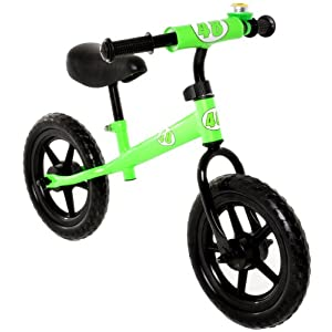 Vilano No Pedal Push Balance Bicycle for Children, Green