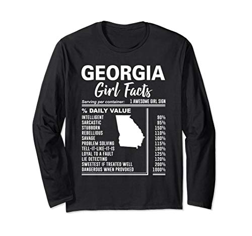 Born in Georgia - Georgia Girl Facts Long Sleeve