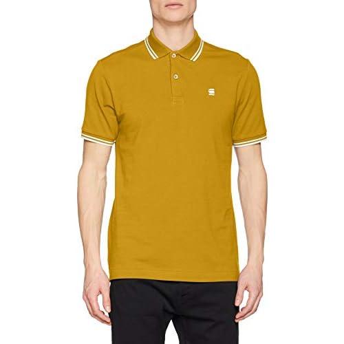 chollos oferta descuentos barato G STAR RAW Dunda Slim Stripe Camisa Polo azufre Verde 5864 5164 XX Large para Hombre