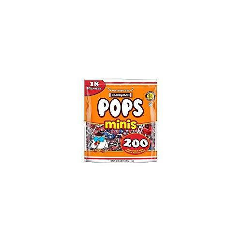 Mini Tootsie Pops (Tootise Roll Assorted Flavor Mini Pops - Bulk Bag of 200 Lollipops, 36)