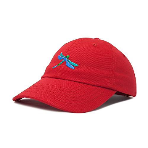 (DALIX Dragonfly Womens Baseball Cap Fashion Hat in Red)