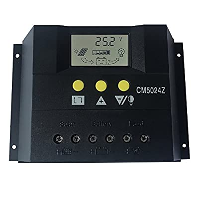 KRXNY 50A PWM Solar Charge Controller 12V 24V Auto Battery Regulator Solar Panel Charging Regulators With LCD Monitor Max 50V PV Input