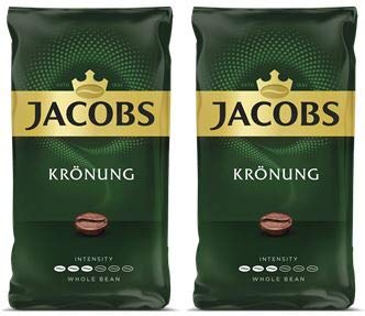 Jacobs Kronung Whole Bean Coffee 500 Gram / 17.6 Ounce (Pack of 2)