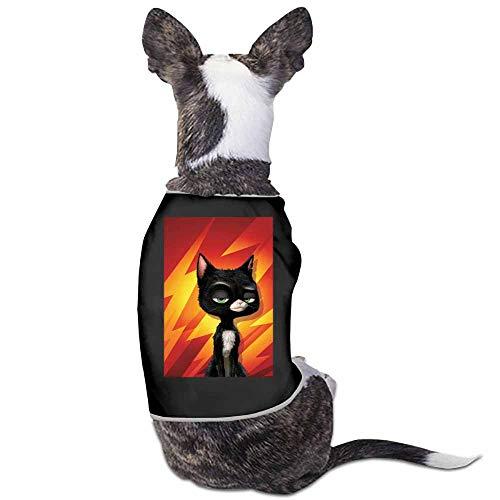 StyleDirect Dog Pajamas Soft Pjs Cat Dog Apparel,Animacion Bolt Cartoons Disney Hd Movies Pixar Dog Jumpsuit Pet Clothes Pajamas(Black)-S]()