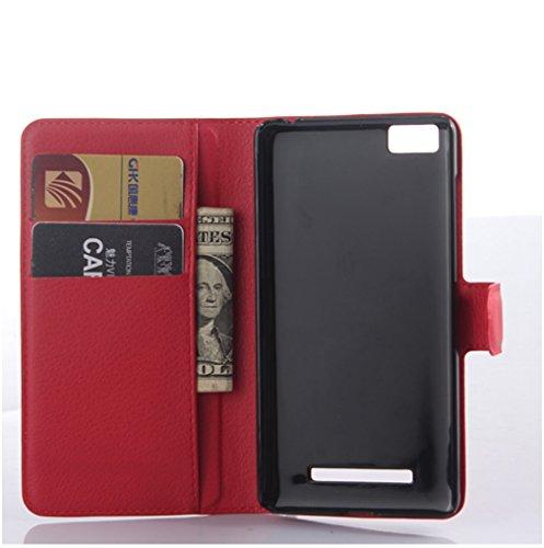 Funda Xiaomi Mi 4C,Manyip Caja del teléfono del cuero,Protector de Pantalla de Slim Case Estilo Billetera con Ranuras para Tarjetas, Soporte Plegable, Cierre Magnético G
