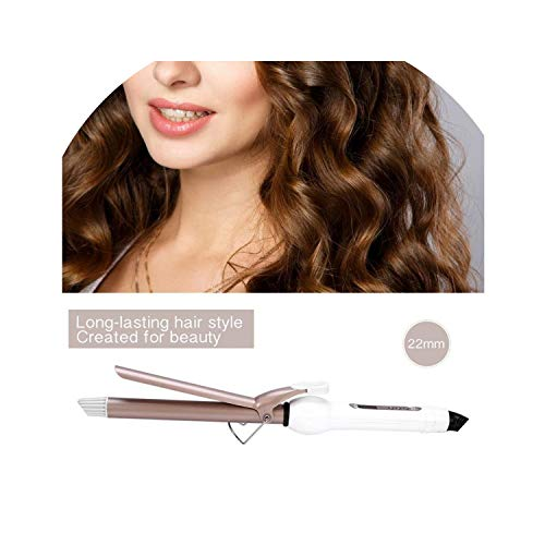 New 110-240V 5 Sizes LCD Tourmaline Ceramic Coating Hair Curler Roller Hair Curling Iron Beauty Styling Tool,22MM ()