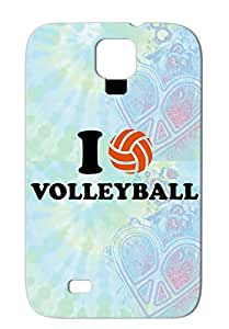 TPU Anti-drop Miscellaneous Sports Volleyball Beschvolleyball Brown Case Cover For Sumsang Galaxy S4