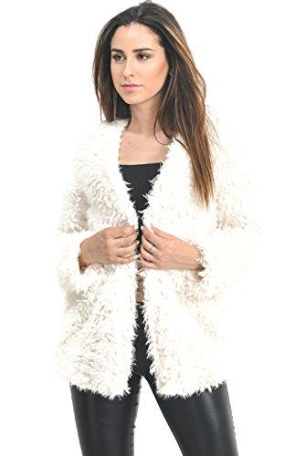 White Faux Fur Jacket - 5