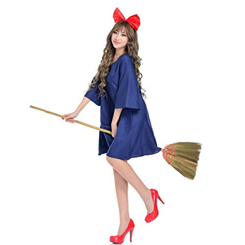 Womens Kiki's Delivery Service Halloween Cosplay Dress Japanese Anime Cartoon Costumes Party Goods -