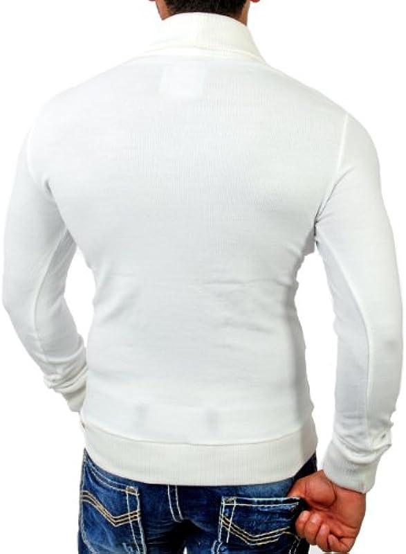kick Down Kurtka męska do robienia na drutach 1953 Cardigan sweter z kołnierzykiem i guziki SlimFit: Odzież