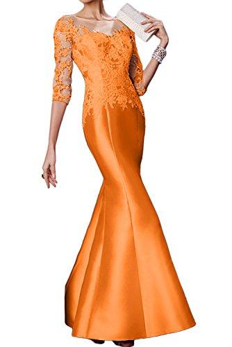 Arm Damen Ivydressing Neu Spitze Lang Orange Abendkleider Satin Meerjungfrau Mutterkleider SfwR6wXq