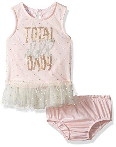 Mud Pie Baby Girls' Two Piece Bloomer Set Sleeveless, Doll, 0-3 Months ()