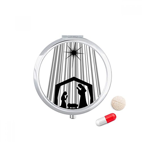 Religion Christianity Church Praying Travel Pocket Pill case Medicine Drug Storage Box Dispenser Mirror Gift by DIYthinker