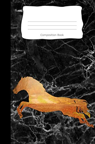 Composition Book: Horse Forest Path Cover | Notebooks | Wide Ruled Line Paper | 120 Pages | Soft Cover (Horses Notebook)