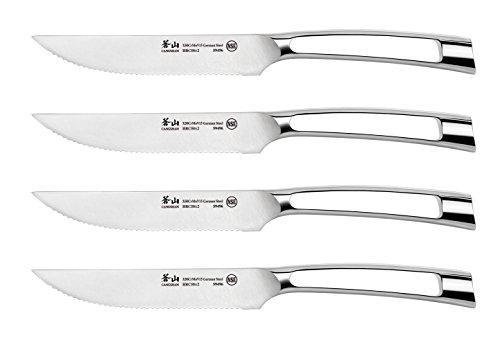 Cangshan N1 Series 1020342 German Steel Forged 4-Piece Steak Knife Set, 5-Inch ()