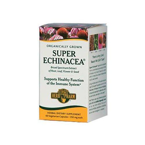 Herb Pharm Super Echinacea Herbal Juice Extract - 350 mg - 60 Vegetarian Capsules